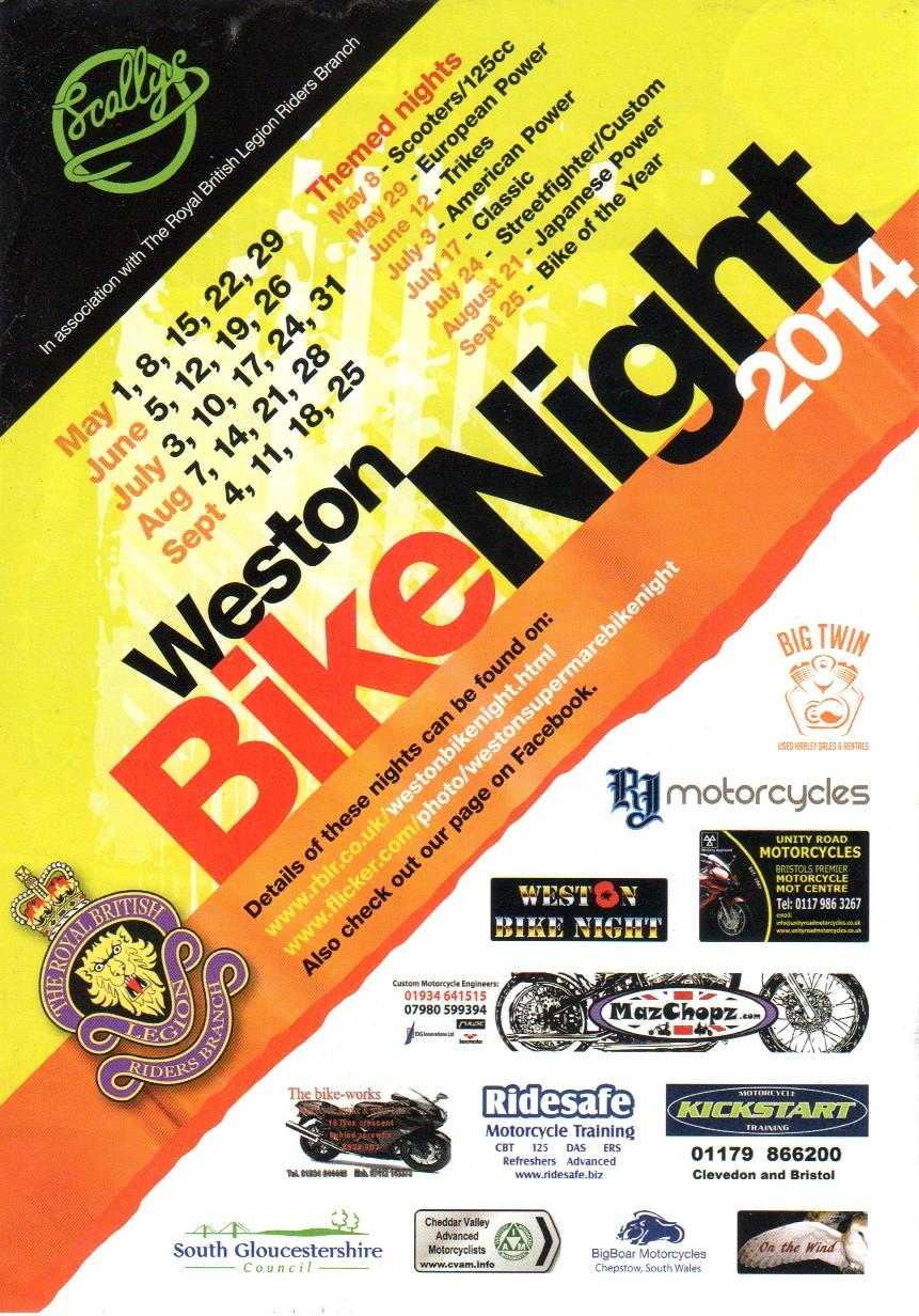 Royal British Legion Weston Bike Nights 2012
